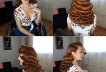 Pinup hair and makeup