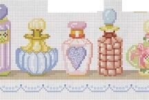 Cross stitch perfume bottle