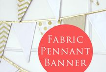 banners pastel