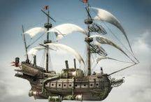 embarcaciónes / + buque volador