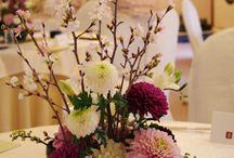 和風 テーブルセッティング お花
