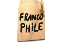 082010 French Quote LG Totes / Made in France Lightweight Totes with Quirky Quotes.