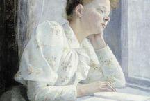 portrait in interior