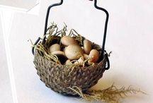 Baskets and vase