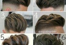 hiukset miehet