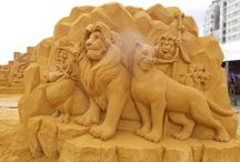 Art - Sand, Ice, Snow / Sculpture Art from sand or ice or snow / by Rae Ann Kressin