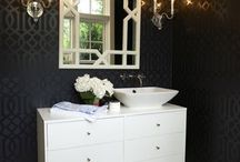 Home Decor: Powder Room / Tiny jewel box.  / by Jenna Kane
