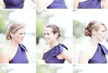 Bridesmaid inspiration / Bridesmaid dresses, hair, make-up and more