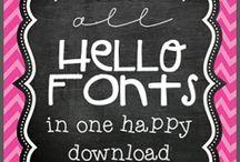 #Free fonts work best*