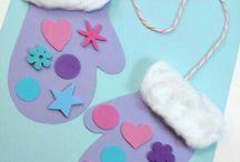Zima - tvoření s dětmi