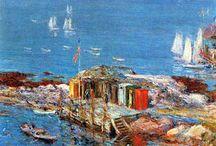 Morski pejzaż w sztuce. Sea landscape in art / Morskie klimaty w sztuce.