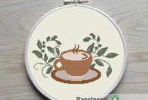 COFFEE&TEA *CROSS STITCH-EMBROIDERY