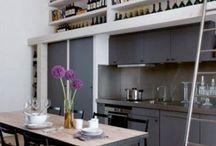 Projet - *Liégeois* / cuisine / Transformation de deux espaces en un espace de vie avec cuisine ouverte sur la salle à manger
