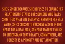 While I'm Waiting❤️ / Great reminders for the #single ladies who know their #worth enough to #save themselves for THE BEST #God has for them. / by E.