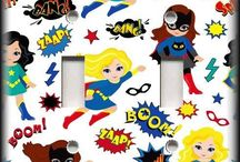 Girly super hero decor