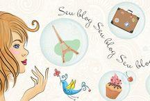 Cabeçalhos para blog / Ilustrações exclusivas para o seu blog!