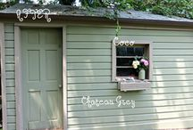 Chalk paint shed