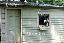 Chalk paint shed