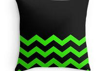 Chevron / Chevron Cushions