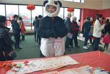 MascotShows take photo on Chinese New Year at Mall of American Minnesota