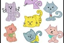 gatinhos de patchwork / by Renata Nunes