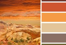 Earth colors palette