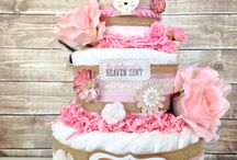 Baby shower / Pink and brown