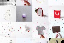 Calendrier de l'avent 2014 / Des petits montages en papier pour créer les cases de mon calendrier de l'avent  #papercut #craft #scrapbook #crafting #paper #papercraftingaddict #papercraft #papier