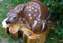 Wood carving sculptures