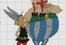 Haft krzyżykowy - Asterix i Obelix