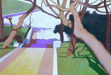 pintura paisaje / paisajes pintados por Fernando Puente
