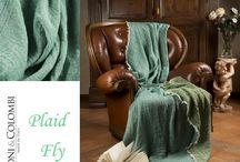 Plaid Fly 100% Lana Woolmark / I Plaid Fly sono 100% Lana Woolmark e 100% made in Italy. In tessuto jacquard, prodotti in Valle Seriana (Bergamo) dall' azienda Zenoni&Colombi. Non solo un plaid ma un vero e proprio complemento d'arredo per rendere calda e fashion la tua casa. Disponibili in diverse varianti colore.