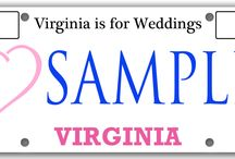 DMV Special License Plate / We are in the process of our application for the DMV license plate. Wedding professionals of Virginia are coming together to create a strong wedding community of support, comradery and pride in our industry. Visit www.Virginiaisforweddings.org