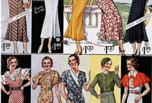The late art deco fashion(1930-1946) and 40's