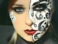 Black and white / Face paint in black and white