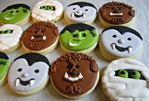 Iced biscuits - halloween and horror