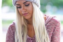 Beanies / Cozy chunky knit beanies, hand knit oversized pom pom beanies, trendy hats and more.