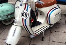 Vespa / Vespa is an Italian brand of scooter manufactured by Piaggio. The name means wasp in Italian.   / by Sophia S🌸