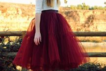 Tulle skirts / One of my favorite type skirts- fit around the waist and then FLARE