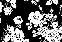 black and white florals