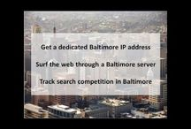 """Baltimore MD Private Proxies / Baltimore is a major city in Maryland with a long history as an important seaport. Fort McHenry, birthplace of the U.S. national anthem, """"The Star-Spangled Banner,"""" sits at the mouth of Baltimore's Inner Harbor."""
