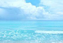 Lucht , water en strand