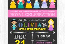 Invitaciones Princess