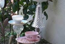 Bird bath and feeder