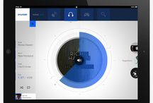 Tablet UI Design / A collection of compressed browser sized UI designs.  These designs often have a Chrome-less app like feel, commanding the entire screen and driving strong flow through the content.