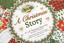 First Edition A Christmas Story / Follow Linda Wood's journey as she recreates the perfect traditional Christmas with her First Edition pad,  A Christmas Story. This enchanting collection of papers are decorated with a classic colour palette of red, green and gold. The illustrative quality in this pad captures the spirit of Christmas past, with it's collaged pages of old newspapers, festive stamps and vintage images of Santa Claus. This collection of 200gsm papers feature effects including, Spot UV, Fabric texture and glitter.