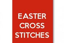 easter day cross stitches