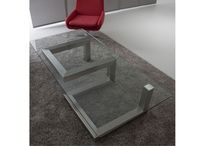 "Transprofil | ADAP Table / The "" ADAP Table "" is multifunctional: by the leg's rotation, you get either  a coffee table (low position) or dining table (high position). Just make your choice."