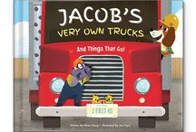 My Very Own Trucks Personalized Book / Vroom! Vroom! It's time to rev up your little one's imagination! In this uniquely personalized book, diggers, dumpers, plows and planes bring letters one by one to spell out your child's first and last name in rhyme. Your child will delight in learning all about trucks and vehicles, from A to Z! / by I See Me! Personalized Children's Books