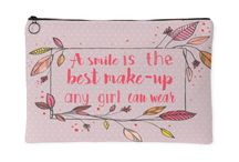 Pouches Qoutes / Our pouch bag collection features inspirational, cute, and fun quotations perfect for your daily ensemble. Checkout the most adorable pouch bags for women ideal for storing smartphones and organizing makeup.